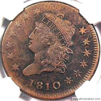 1810 USA Classic Head penny, normal date