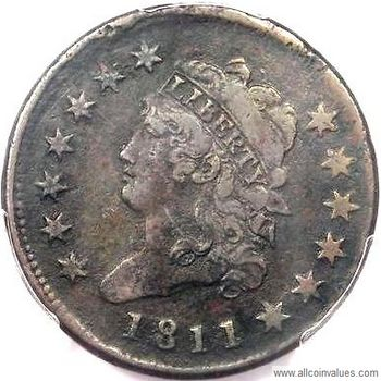 1811 USA Classic Head penny, normal date