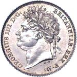 King George IV era UK sixpence values