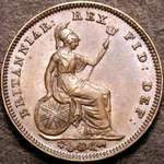 1844 UK third farthing value, Victoria, REG