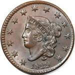 Coronet Head US 1 cent (penny) values