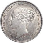 Queen Victoria era UK shilling values, young head, page 2 (1854 to 1867)