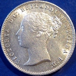 1840 UK fourpence (groat) value, Victoria, young head, 0 over O