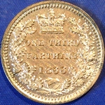 1866 UK third farthing value, Victoria