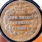 1868 UK third farthing value, Victoria