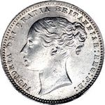 Queen Victoria era UK shilling values, young head, page 3 (1867 to 1879)