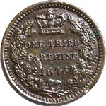 UK Third Farthing coin values