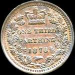 1878 UK third farthing value, Victoria