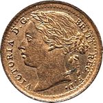 1881 UK third farthing value, Victoria