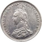 Queen Victoria era UK shilling values, jubilee head (1887 to 1892)