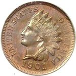 Indian Head US 1 cent (penny) values