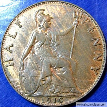 1903 half penny australia value