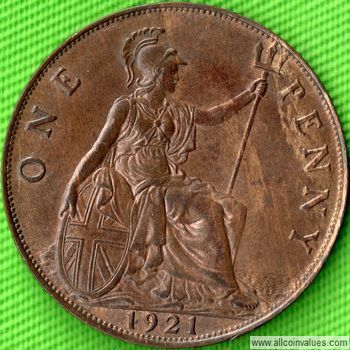 1921 UK Penny Reverse George V
