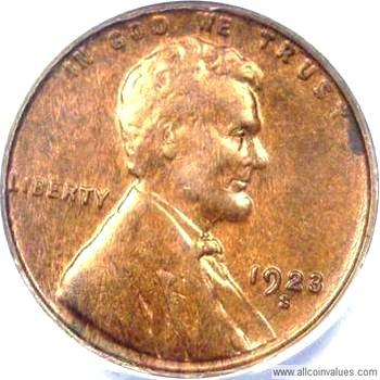 1923-S LINCOLN PENNY CENT G GOOD OR BETTER