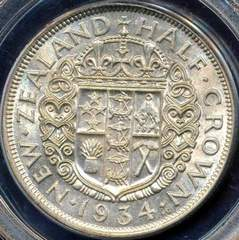 1934 New Zealand half crown