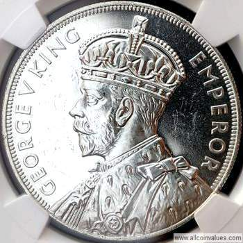 1935 New Zealand crown obverse