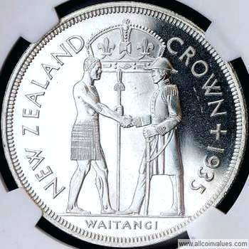 1935 New Zealand crown reverse