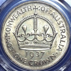 1937 Australian crown value