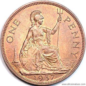 1937 uk penny value george vi for One penny homes