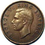 1944 New Zealand halfpenny