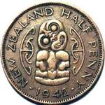 1942 New Zealand halfpenny