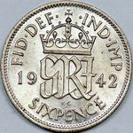 1946 sixpence coin value