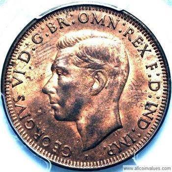1943 i Australian penny value