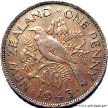 1943 New Zealand penny value