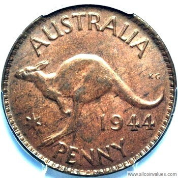 1944 Y  Australian penny value