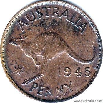 1945 Australian penny value