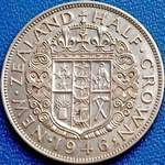 1946 New Zealand half crown