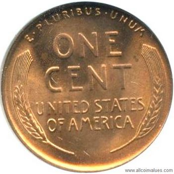1946 P Us One Cent Penny Value Lincoln Wheat