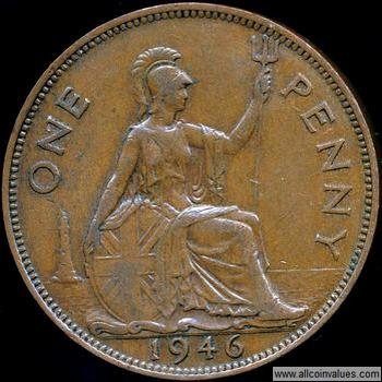 1946 Uk Penny Value George Vi