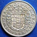 1948 New Zealand half crown