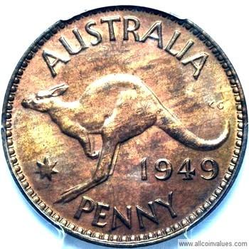 1949 Australian penny value