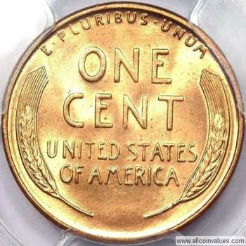 1951 D US one cent (penny) value, Lincoln wheat