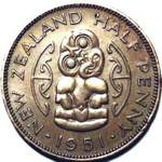 1951 New Zealand halfpenny