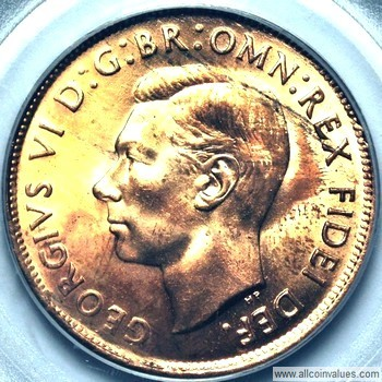 1952 Australian penny value