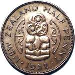 1952 New Zealand halfpenny