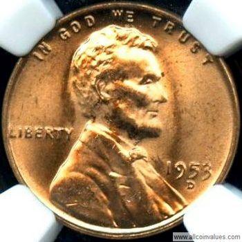 UNITED  STATES   1 Cent   1953 D   UNC  *