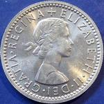 Queen Elizabeth II era UK sixpence values