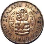 1960 New Zealand halfpenny