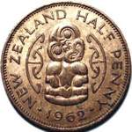 1962 New Zealand halfpenny