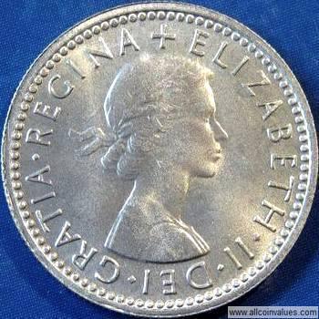 GREAT BRITAIN   6 Pence   1962   *