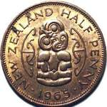 1965 New Zealand halfpenny