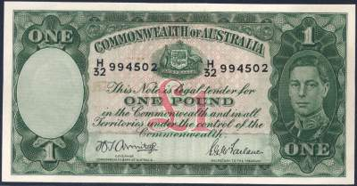 Australian one pound banknote values