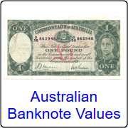 Australian banknote values