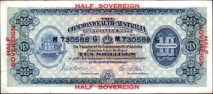 Australian half sovereign banknote values